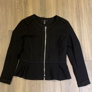 H&M black vest jacket size 12